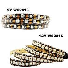 Tira de luces LED DC5V WS2813 DC12V WS2815 WS2812 actualizado 5050SMD, direccionable, Dual-Signal PixeIs IP65, resistente al agua