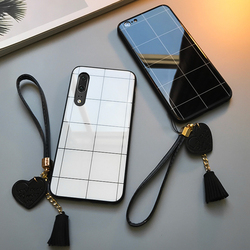 На Алиэкспресс купить чехол для смартфона for vivo s1 pro iqoo neo z3i z1 case free strap lattice line glossy hard glass cover for vivo nex s u1 u3x z5x iqoo pro casing