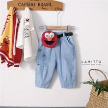 Lmt0606 г. Осень-зима, новые продукты, Детская сумка zhimajie, брюки из джинсовой ткани