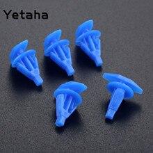 Yetaha 100 sztuk łączniki samochodowe drzwi samochodu i okna taśma uszczelniająca uszczelki klipy ustalające dla VW Honda Toyota Nissan uniwersalny