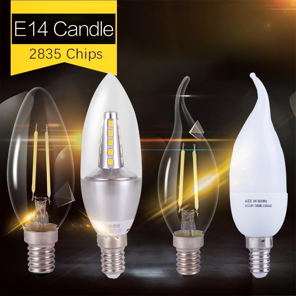 E14 Led bulb 2W 3W 5W 7W 220V Led Lamp Candle Light Bulbs Bombillas Lampada Leds for Chandelier Living Room Home Lighting Ben