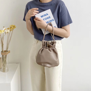 Image 2 - 2020 New Women Bag PU Leather Youth Drawstring Bucket Bag Japan Lucky Bag Ladies Handbag Small Crossbody Shoulder Bag Whole Sale