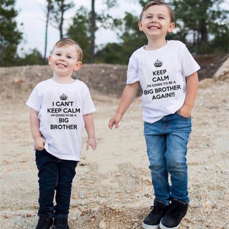 Funny I'm Going to Be a Big Brother Again Children Boys Tshirt Kids Brother Matching Clothes Pregnancy Announcement Top Outfits
