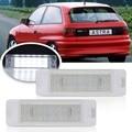 2 шт. Автомобильный светодиодный светильник номерного знака для Opel ASTRA-F 1992-1998 для Opel CALIBRA 1989-1997 Auot задний фонарь для автомобиля
