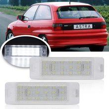 2 pces carro conduziu a luz da placa do número de licença para opel ASTRA-F 1992-1998 para opel calibra 1989-1997 auot lâmpada traseira da cauda do carro