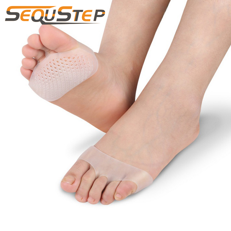 2 Pairs Soft Silicone Gel Toe Pads High Heel Shock Absorption Anti Slip-Resistant Metatarsal Foot Pad Forefoot Pad Feet Pain Pad