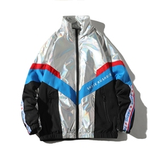 2020 Hip Hop Spring Jackets Men Windbreaker Patchwork Autumn Loose Casual Jacket Male Coats Zipper Tracksuit Streetwear 4XL 5XL