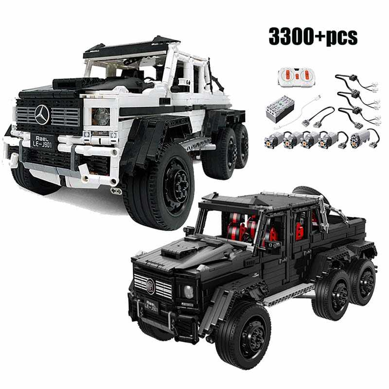Benz 6x6 MOC LAND CRUISER Off-road Truck Car compatibile lepining mattoni building block giocattoli del capretto Di Natale regali Ragazzo Technic