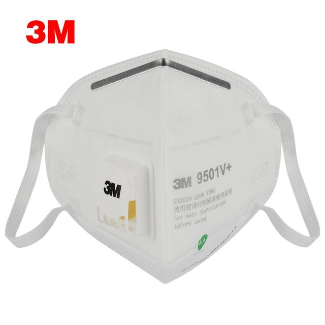 3M 9501V+ Masks 1-50pcs PM2.5 KN95 9501V+ Updated Particulate Respirator Dust Mask with Cool Flow Valve Breathable Mask N95 2