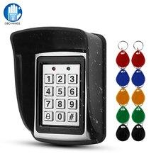חיצוני מתכת RFID בקרת גישה לוח מקשים כרטיס קורא עמיד למים כיסוי 125KHz 10PCS Keyfobs אטים לגשם עבור מערכת בקרת גישה