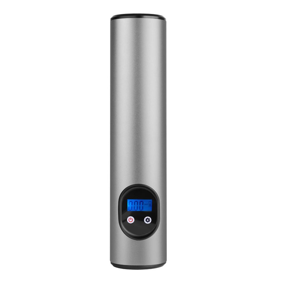 Spor ve Eğlence'ten Bisiklet Pompaları'de Araba kablosuz 12V taşınabilir araba hava pompası elektrikli lastik şişirme araba bisiklet bisiklet pompası otomatik şişme pompa LCD dijital otomatik title=