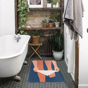 Ultra-thin Bathroom Rug Nordic Felt Funny Carpet Area Rugs Bath Room Rug Kitchen Floor Mats Doormat Chic Home Office Decor