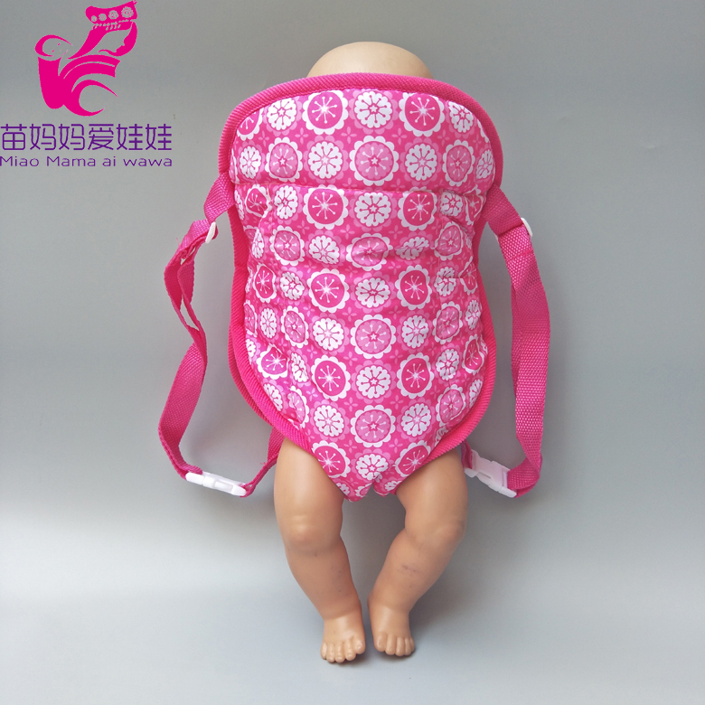 Dolls Out Going Carry Bag Doll Accessory For 43cm Baby New Born Doll Girl For 18 Inch Doll Bag Doll Clothes