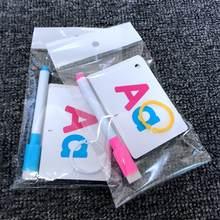 27 pces alfabeto carta tracing cartão letras educacionais ler escrever aprendizagem alfabeto com uma caneta presente pré-escolar