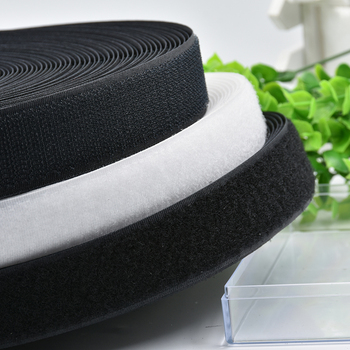 Wholesale 25Yards/roll Pairs Fastener Tape No Glue The Hooks Velcros Adhesive Sewing-on Strips Magic Tape DIY Hook and Loop