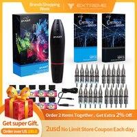 Dragonhawk TOP Tattoo Kit Motor Pen Machine Gun Color Inks Power Supply Needles D3029