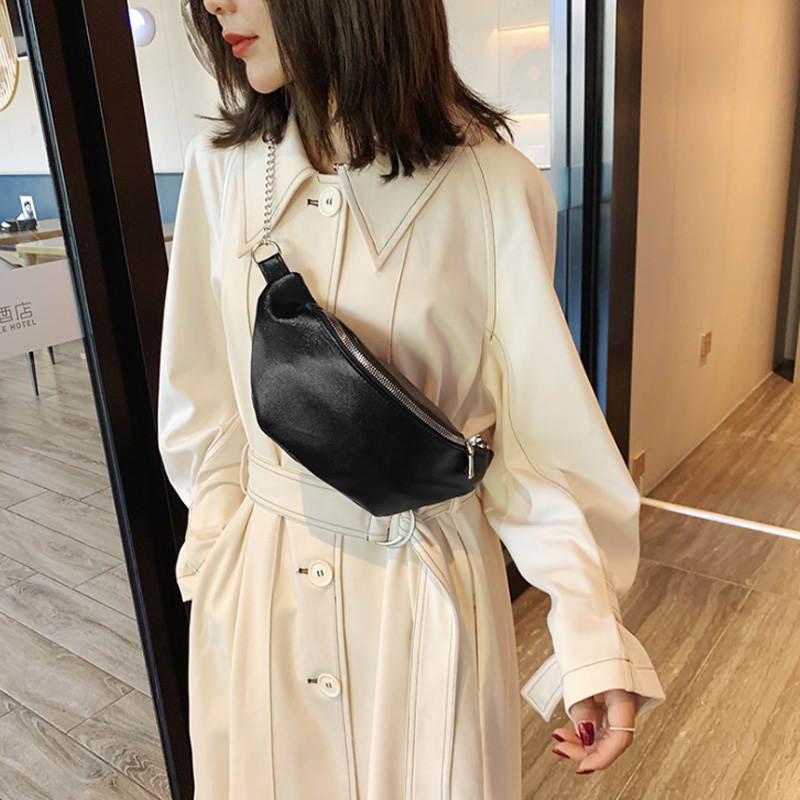 Net Red With The Same Paragraph Didi Waist Bag Girls Spring New Fashion Simple Messenger Bag Chain Chest Bag Tide Wholesale Wall