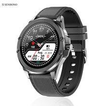 SENBONO nuevo reloj inteligente reloj de seguimiento de Fitness apoyo marca llamadas recordatorio de deportes Smartwatch para IOS Android Teléfono