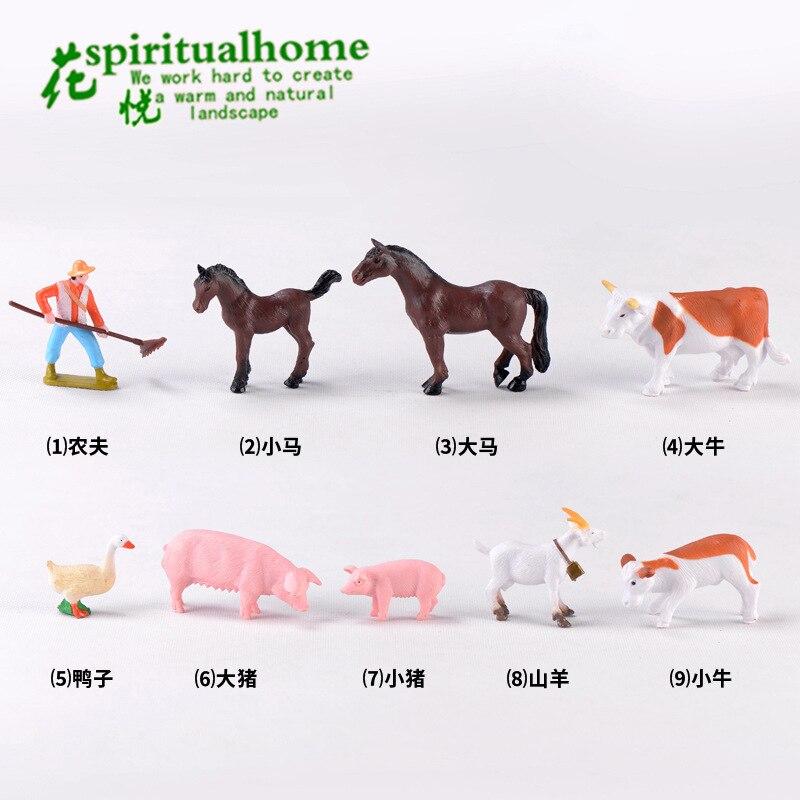Миниатюрная ферма животная модель орнамент Милая свинья корова