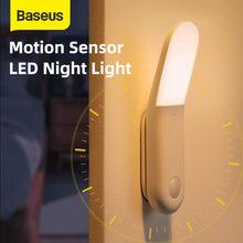 Baseus Led Motion lampka nocna indukcja ciała lampka nocna USB akumulator światło magnetyczne lampa z czujnikiem ruchu oświetlenie do sypialni