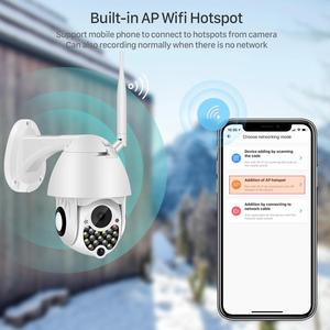 Image 5 - 1080P Siren Light Wifi PTZ Camera 2MP Auto Tracking Cloud sicurezza domestica telecamera IP 4X Zoom digitale Speed Dome Camera Outdoor