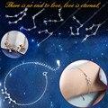 Женский браслет с 12 созвездиями, браслет для подруг, подарок на день рождения, ювелирные изделия, Модный женский браслет с 12 созвездиями и бр...
