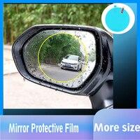 Novo 1 par auto carro anti névoa de água filme anti nevoeiro revestimento à prova chuva hidrofóbico espelho retrovisor película protetora tamanho personalizado