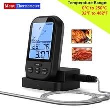 Draadloze Digitale Vlees Thermometer   Remote Bbq Keuken Koken Thermometer Voor Oven Grill Roker Met Timer Inbegrepen Eten Probe