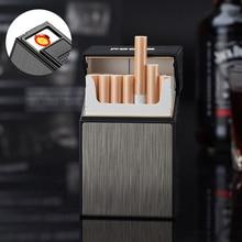 Портативный чехол для сигарет с зажигалкой, 20 шт., с зарядкой от USB