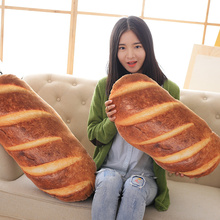 Coushin 3 Style Cushion Seat/Back Bread Simulation Pillow Cartoon Safa Decoration Super Soft Warm Velvet Oblong Modern