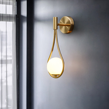 Nordic Wall Lamp Decorative Lamp on the Wall Modern Applique Murale Luminaire Home Bedside Led Wall Light Fixtures Glass Ball
