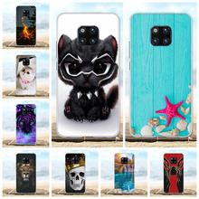 For Huawei Mate 20 Pro Cover Soft TPU LYA-L09 LYA-L29 Case Scenery Patterned Shell