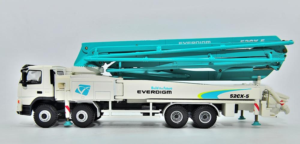 1:50 Scale Construction Model Korea EVERDIGM Concrete Pump Truck Model, High Quality Reasonable price, Replica, Collection