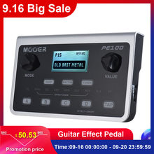 MOOER PE100 Multi-effects Processor Guitar Effect Pedal 39 Effects Guitar Pedal 40 Drum Patterns 10 Metronomes Tap Tempo(China)