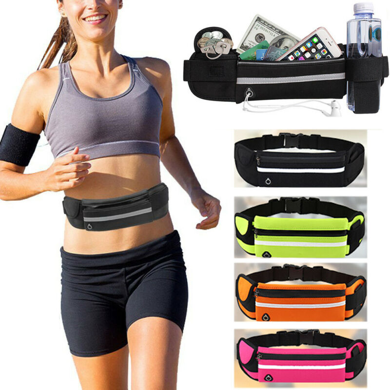 Unisex Sports Running Bags Women Sports Waist Pocket Jogging Portable Waterproof Cycling Bum Bag Outdoor Phone Pack Belt Bags