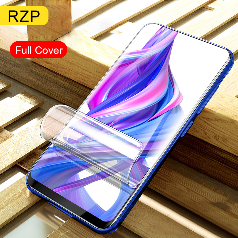 RZP Full Cover Screen Protector For Huawei Honor 9X Pro 9i 10 lite 20 Pro V20 20i Hydrogel Film For Honor 10 9 lite TPU PET Film-in Phone Screen Protectors from Cellphones & Telecommunications