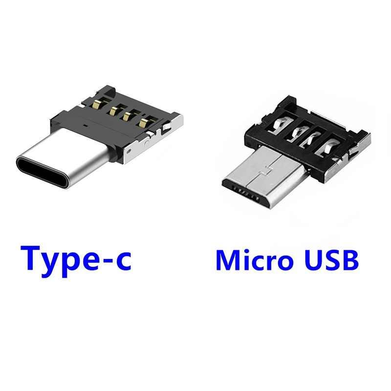 Android micro usb type-c kabel otg adapter złącza typ c konwerter usb do telefonu komórkowego karta pamięci usb czytnik Mini