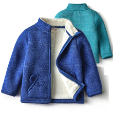 Baby Jacket Spring Autumn New Boys Girls Solid Fleece Trench