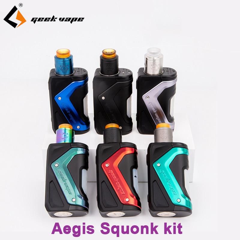 Newest E Cigarette Mod Geekvape Aegis Squonk Kit Aegis Squonk 100W TC Mod 10ml Bottle&Tengu RDA Fit N80 Fused Clapton Coil Vapor