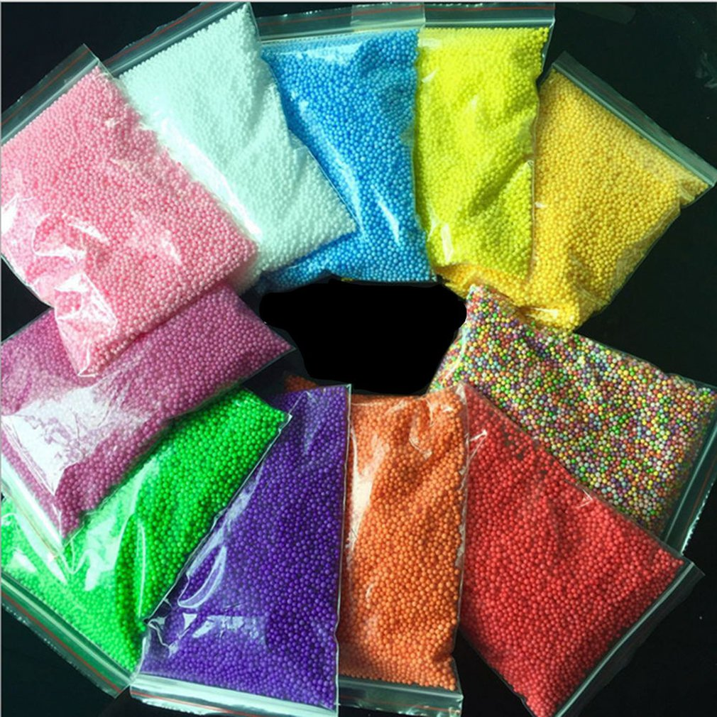 9G/Bag DIY Snow Mud Particles Accessories Slime Balls Small Tiny Foam Beads For Floam Filler For DIY Supplies