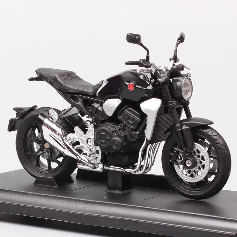 Escala 1:18 das crianças welly 2018 honda cb1000r bicicleta motocicleta corrida moto diecasts & veículos de brinquedo modelo miniatura para coleção