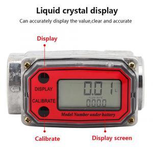 Image 2 - Ferramentas líquidas da medida do fluxo de água do contador do sensor do indicador do npt do verificador de combustível 15 120l da turbina digital para o fluxo de combustível