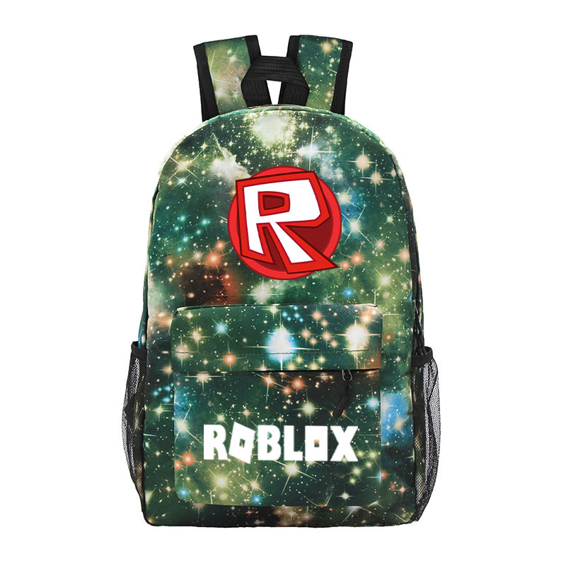 Nebula Style Canvas ROBLOX Backpack For Teenagers Kids Boys Children Student School Bags Travel Shoulder Bag Unisex Laptop Bag