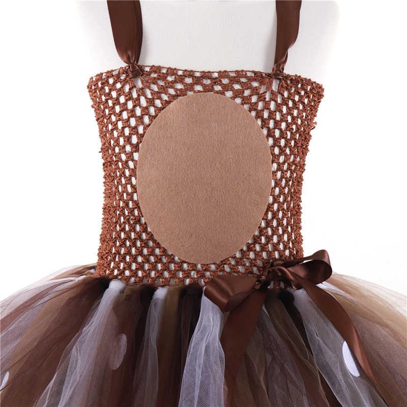 Deer Tutu Kleid Baby Mädchen Kleider für Mädchen Halloween Kostüm Für Kinder Elch Cosplay Weihnachten Geburtstag Party Kleid Mit Stirnband