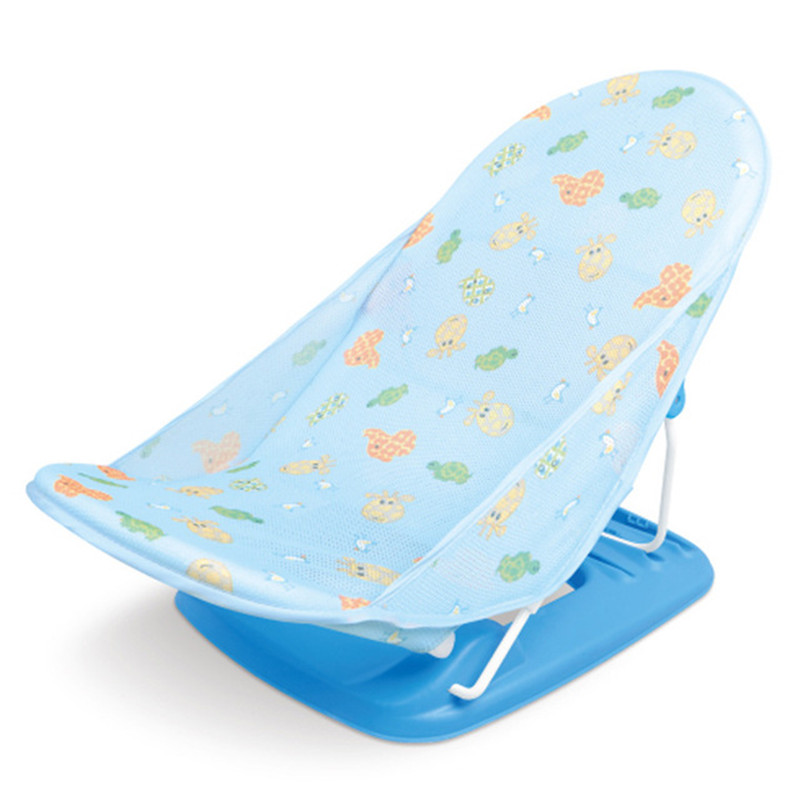 Portable Baby Bather and Foldable Baby Shower Chair with Air Cushion Bed for Safe Bath of Infant