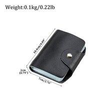 Мужские Женские кожаные ID с протекторами для банковских карт держатель кошелек хранилище Чехол Сумочка