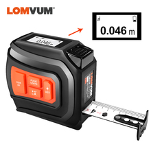 LOMVUM LTM USBชาร์จเลเซอร์เทปเลเซอร์Real Time Dada 40/60M Rangefinderเลเซอร์ 5MเทปLCDดิจิตอลใหม่