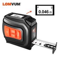 LOMVUM LTM USB Ricaricabile Laser Nastro Laser Tester di Distanza in Tempo Reale Dada 40/60m Telemetro Laser 5 nastro Adesivo di 3m Digitale LCD NUOVO