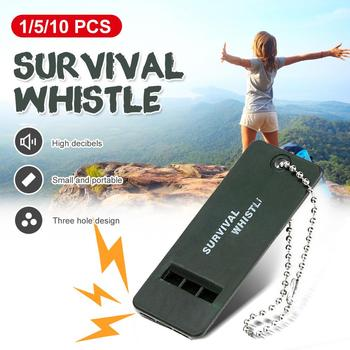 Outdoor Soccer Baseballl Sound Referee First Aid Kit Rescue Emergent Sport Decibel Camp Hike Survive Signal Life Save Whistle image