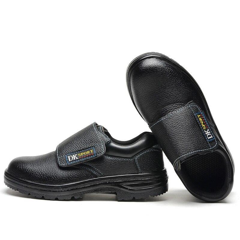 مكافحة تحطيم ومكافحة الاختراق أحذية أمان خفيفة الوزن يمكن ارتداؤها المضادة للانزلاق خفيفة الوزن موضة أحذية واقية آمنة تنفس أحذية عمل مريحة-في أحذية سلامة برقبة من الأمن والحماية على title=